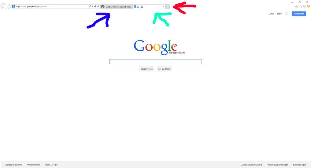 Microsoft Edge - Neue Tabs öffnen mit Benutzerdefinierter Seite