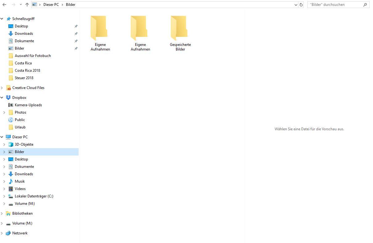 """""""Dieser PC"""" hat Verknüpfung zu leeren Onedrive Ordnern. Wie kann ich den Dateipfad wieder..."""