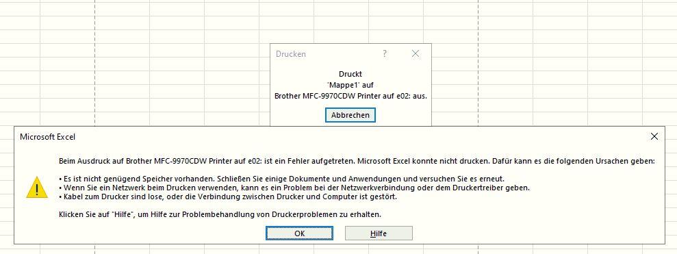 Nach Update 1909 - kein Drucker funktioniert mehr, auch nicht System-PDF-Drucker