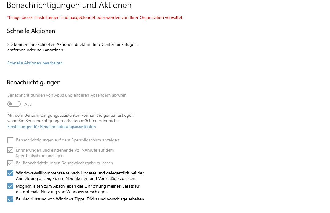 """Viren- und Bedrohungsschutz """"Seite nicht verfügbar"""""""