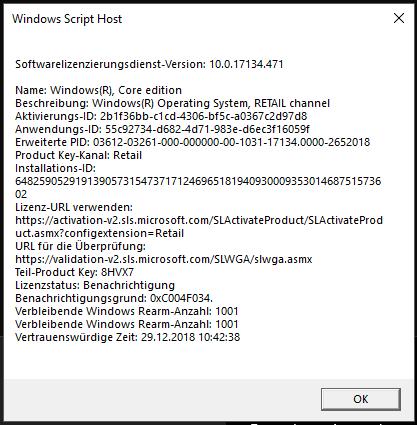 Fehlercode 0x803fa067