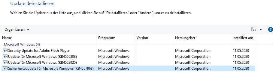 Windows Update Fehler 0x80070643