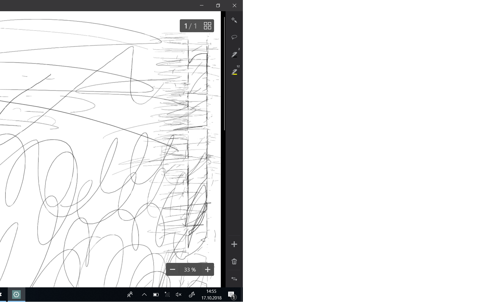 Windows Surface Pro - Touchscreen rechts in einem vertikalen Streifen mit Aussetzern