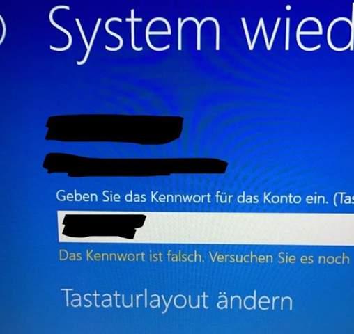 Diese Anmeldeoption ist deaktiviert........?Windows?