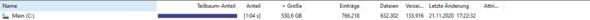 Festplatte zeigt unterschiedliche Speichermengen?