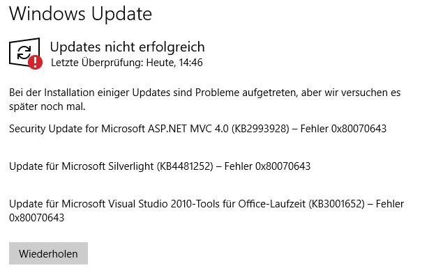 update error!