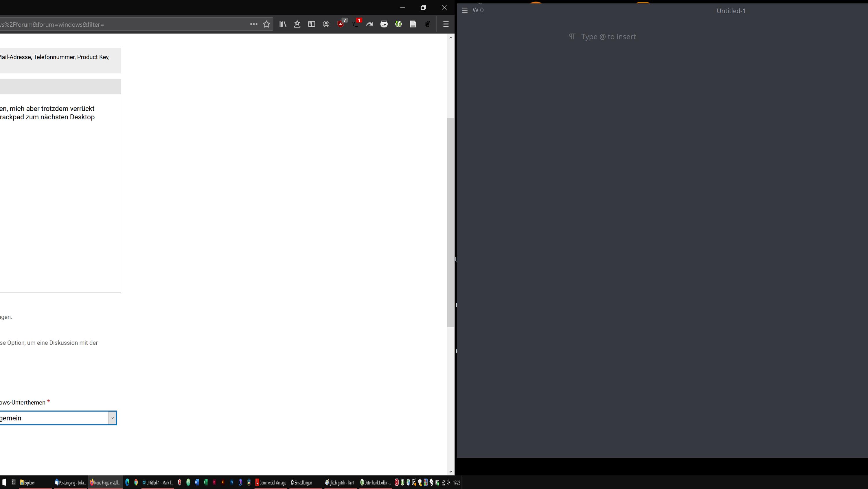 Visueller Glitch beim Arbeiten mit virtuellen Desktops