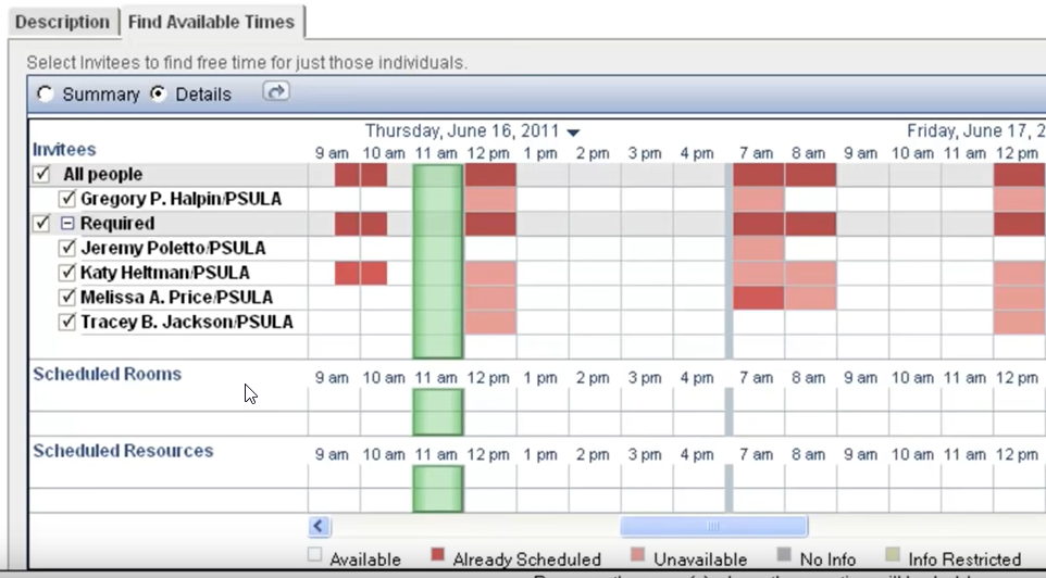 Outlook Kalender - Lotus Note Date Collector