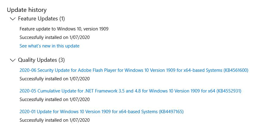 Bluetooth funktioniert nicht mehr seit Update Win10 V1909