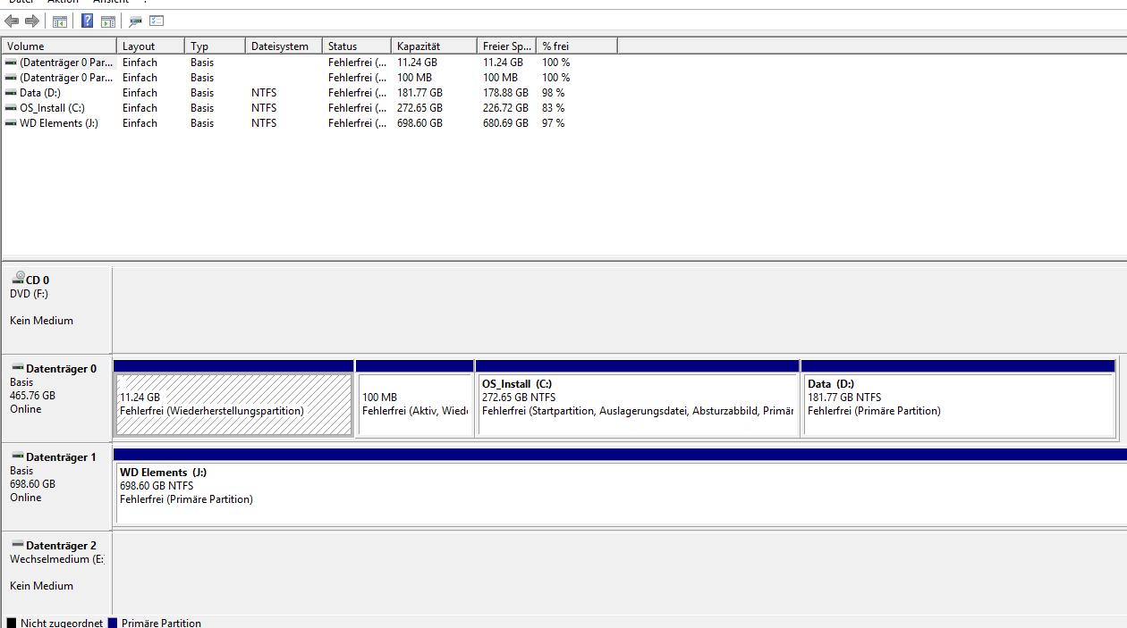 Dateiverlauf und Systemabbild auf der gleichen externen Fetsplatte speichern ?
