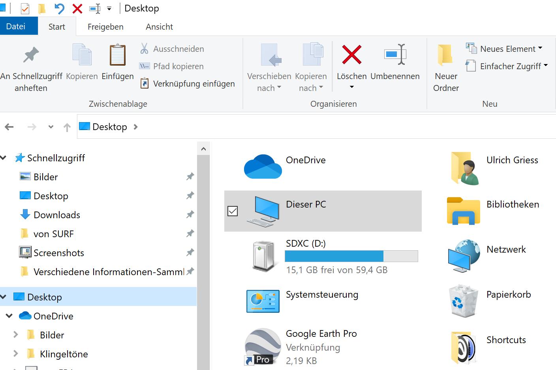 Papierkorb-Icon vom Desktop verschwunden