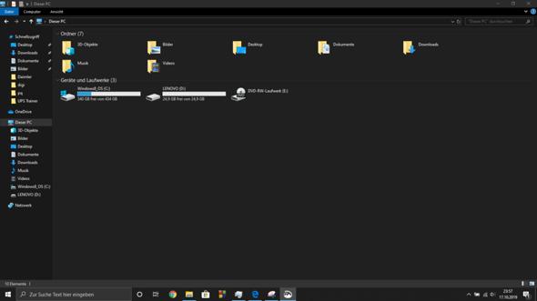 Mein Windows 10 nimmt einfach 500gb für nix ein?