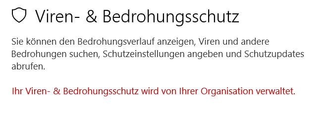 Windows Defender ist deaktiviert und lässt sich nicht mehr aktivieren