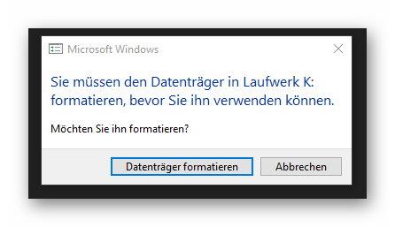 Warum kann Windows 10 USB-Stick plötzlich nicht mehr lesen?