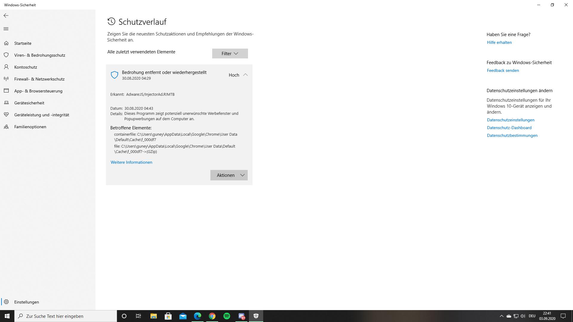 Bedrohung noch auf dem PC ?