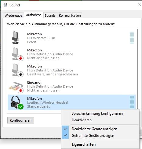 Stereomix fehlt nach upgrade auf Windows 10 pro