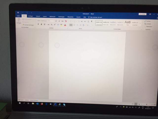 Surface Book - Touchscreen registriert falsche Inputs