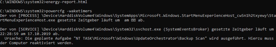 PC mit Windows 10 (1903) geht nicht in den Standby-Modus