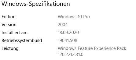 Update auf version 2004