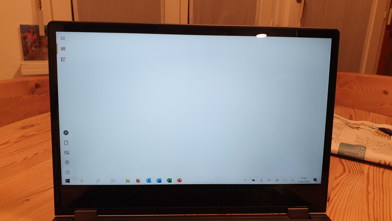 Bildschirm weiß und windos Ikon funktioniert nicht