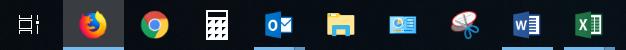 Bei aktiven Icons in der Taskleiste fehlt der blaue Balken.