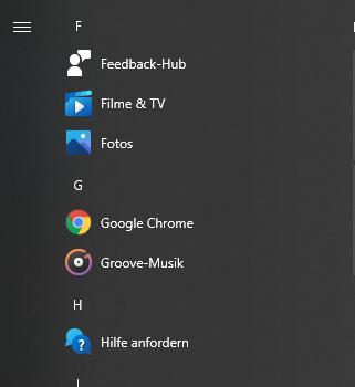 Programm Icons fehlen trotz Neuinstallation nach System-Zurücksetzung in Windows Suche