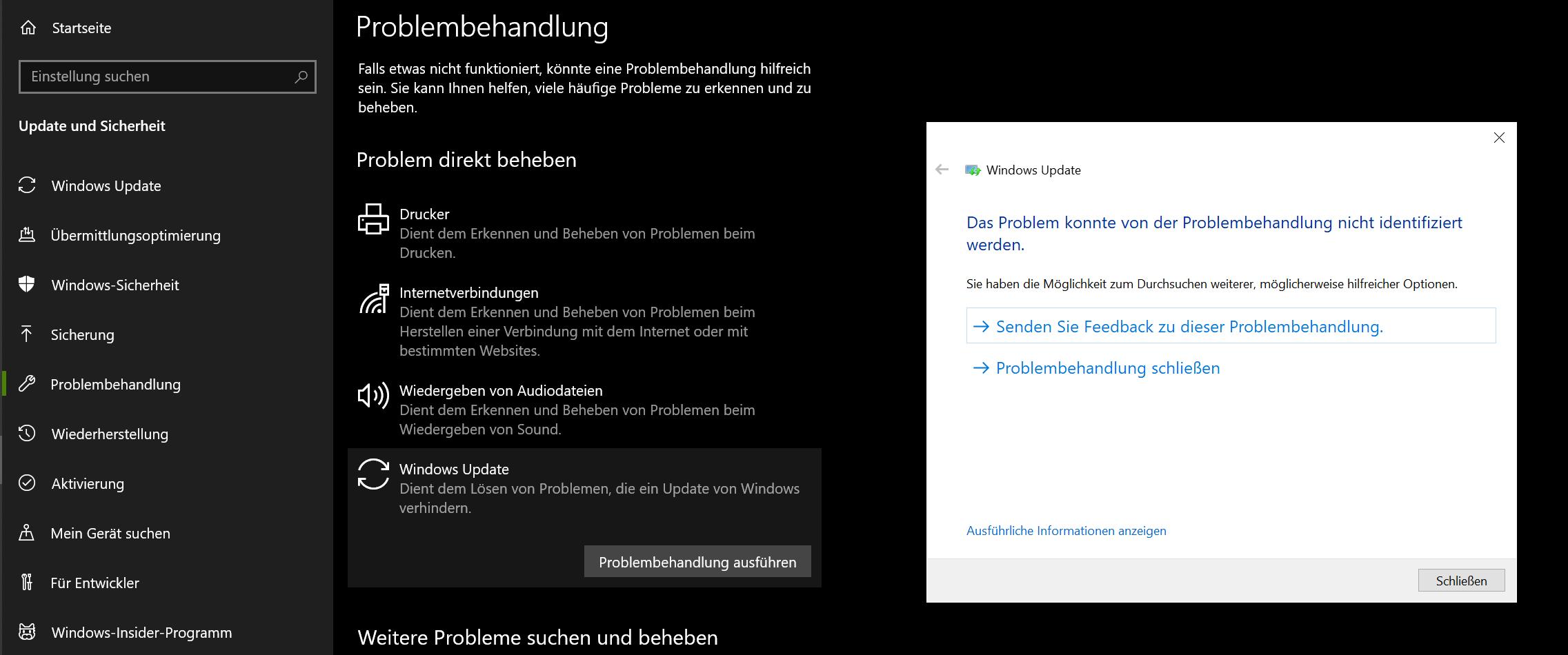 Windows 10 Upgrade: errorCode 0xc1900201, Die für das System reservierte Partition kann...