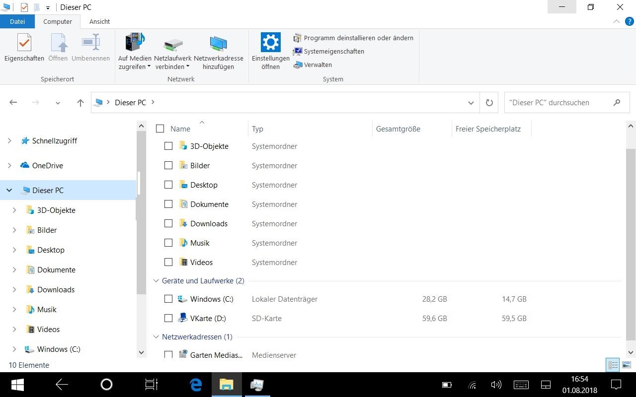 Update auf Windows-10 nicht möglich - zu wenig Speicherplatz