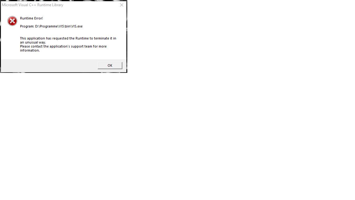 Microsoft Visual C+++ Run Time Error