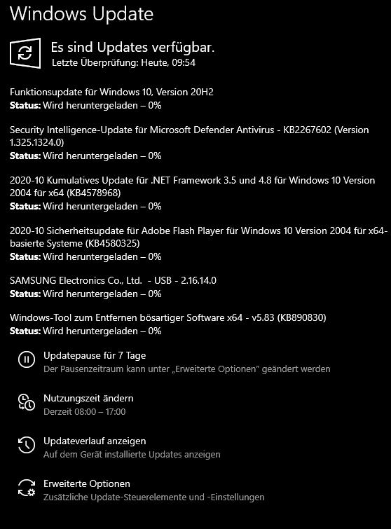 Windows 10 Update wird heruntergeladen 0% nicht tut sich