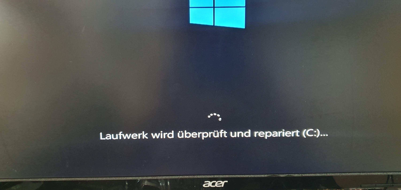 Wieso immer Datenprüfung und Reparatur bei jedem Start von Windows 10?