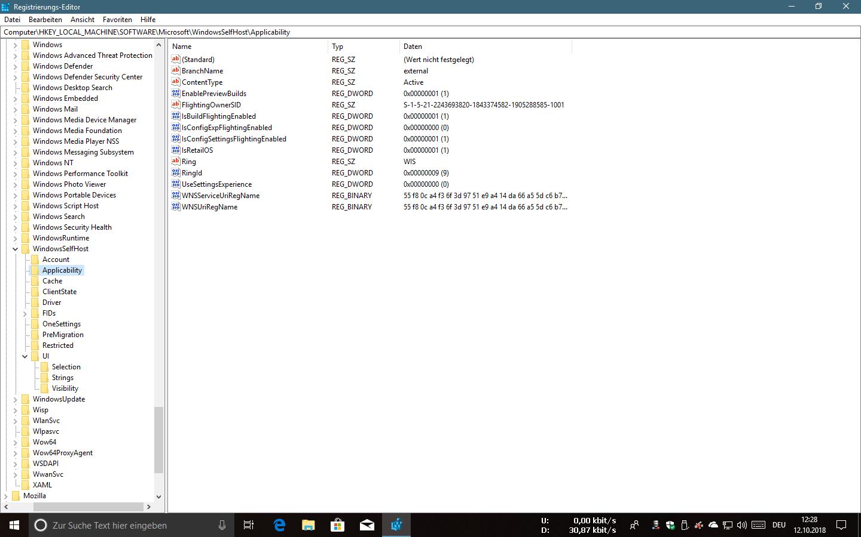 """Windows Insider Programm - Einstellung """"Nur Updates, Apps und Treiber"""" lässt n´sich nicht..."""
