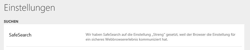 """""""Safe Search"""" ausschalten?"""