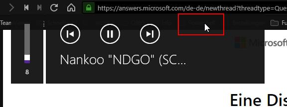 Windows 10 Media Control Overlay mehr Einstellungen