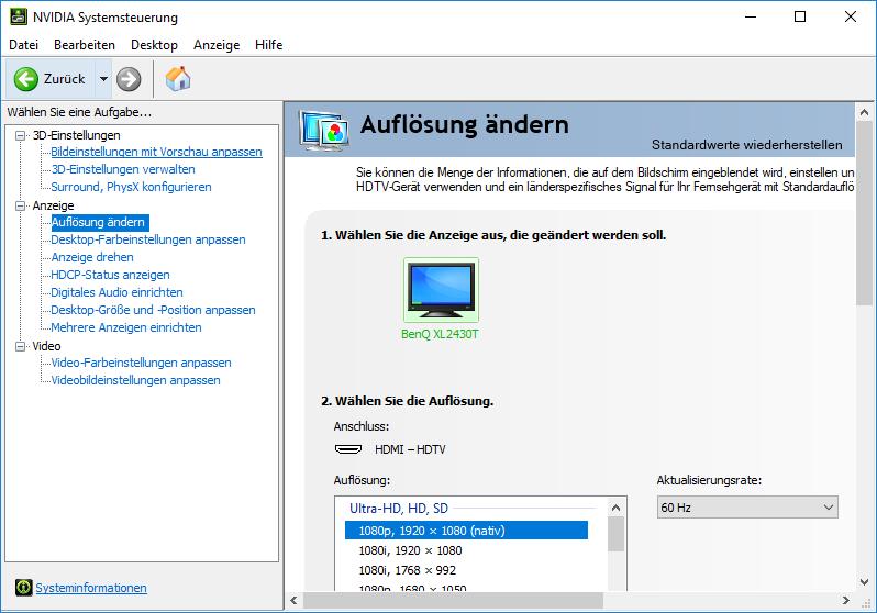 Windows erkennt einen Bildschirm der gar nicht angeschlossen ist.