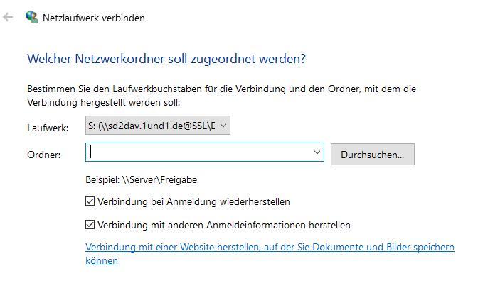 Fehler bei WebDAV Einrichtung