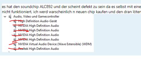 Kein Sound - PC erkennt die 2 Audiobuchsen für Lautsprecher und Mikrofon garnicht