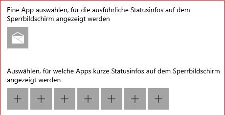 Sperrbildschirm, E-Mails werden nicht angezeigt.