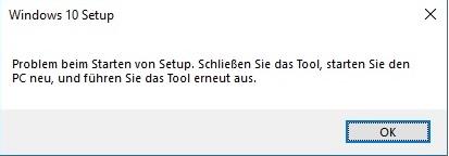 Fehler MediaCreationTool1803.exe