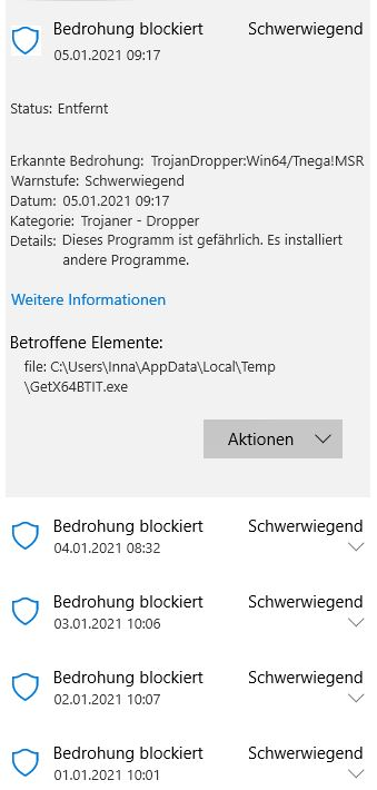 Windows Defender Trojaner