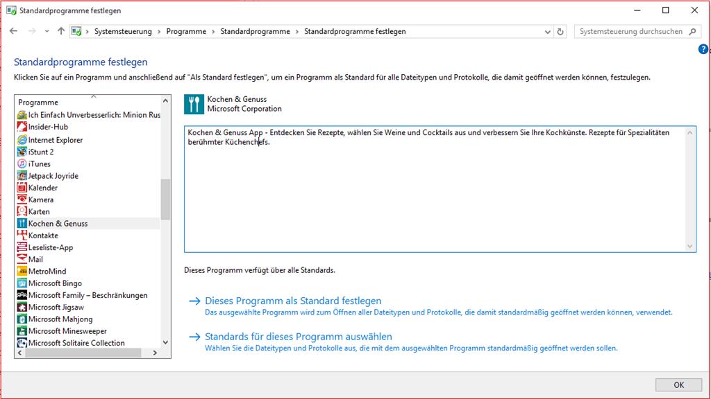Microsoft Edge lässt sich nicht als Standardbrowser auswählen