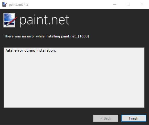 Ich kann paint.net nicht installieren.