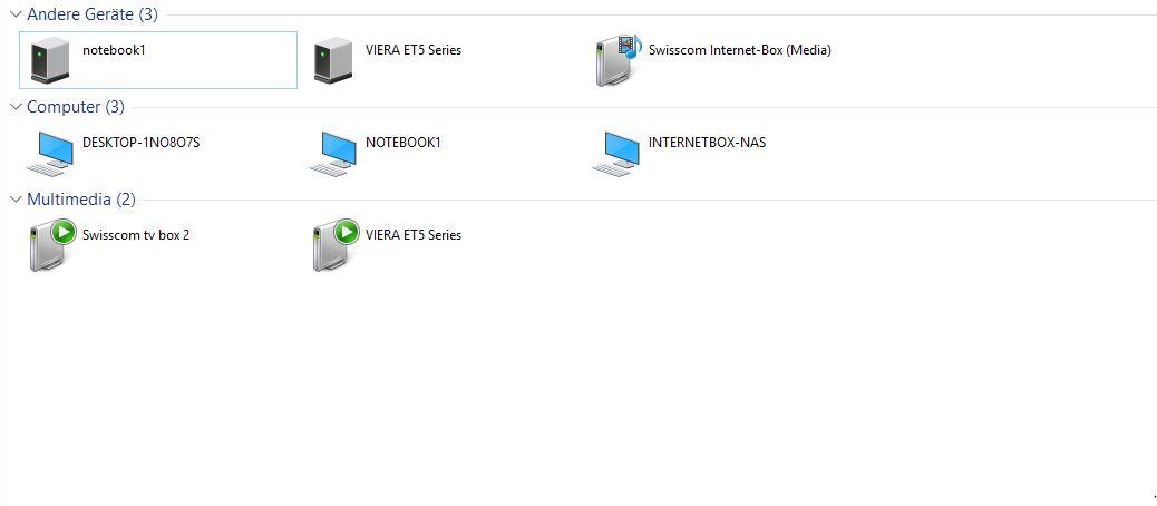 NAS auf meinem Desktop nicht erkennt