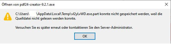 Nach Update von Win10 1903/1909 auf 2004 keine Downloads mehr möglich
