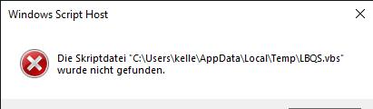 Windows Script Fehler
