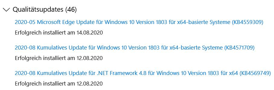 Funk Maus funktioniert nach Windows Update nicht mehr