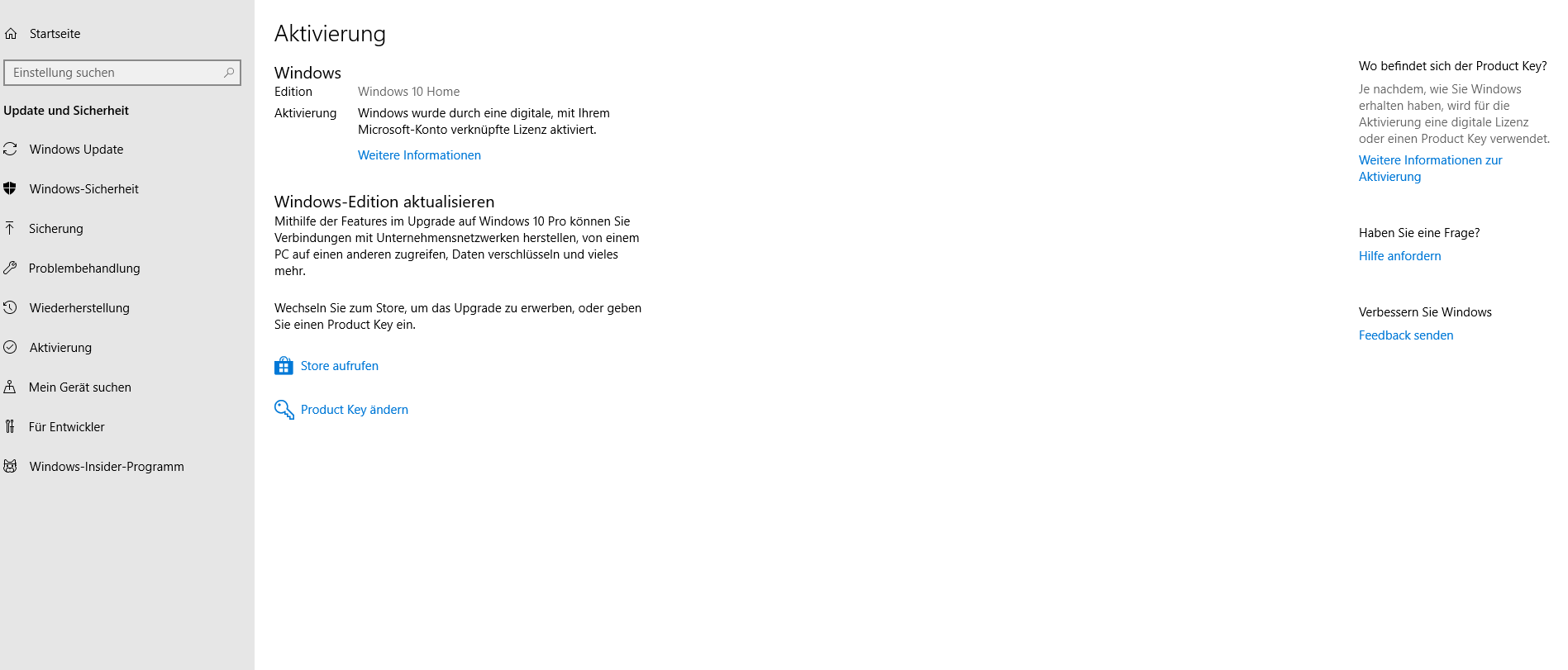 Windows 10 Pro Aktivierungsfehler 0xc004f050