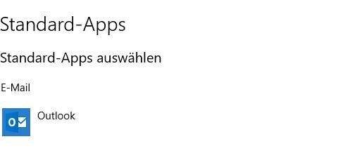 """W10 Home - E-Mail Empfänger wird nicht im """"Senden an"""" Menü angeboten"""