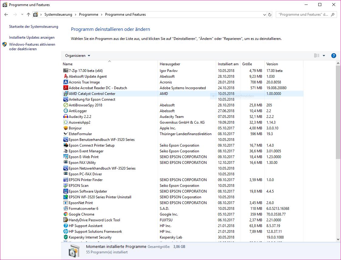 AMD Catalyst Control Center Ethernet Zugang