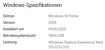 Windows Update Seite Fehler leeres Fenster!